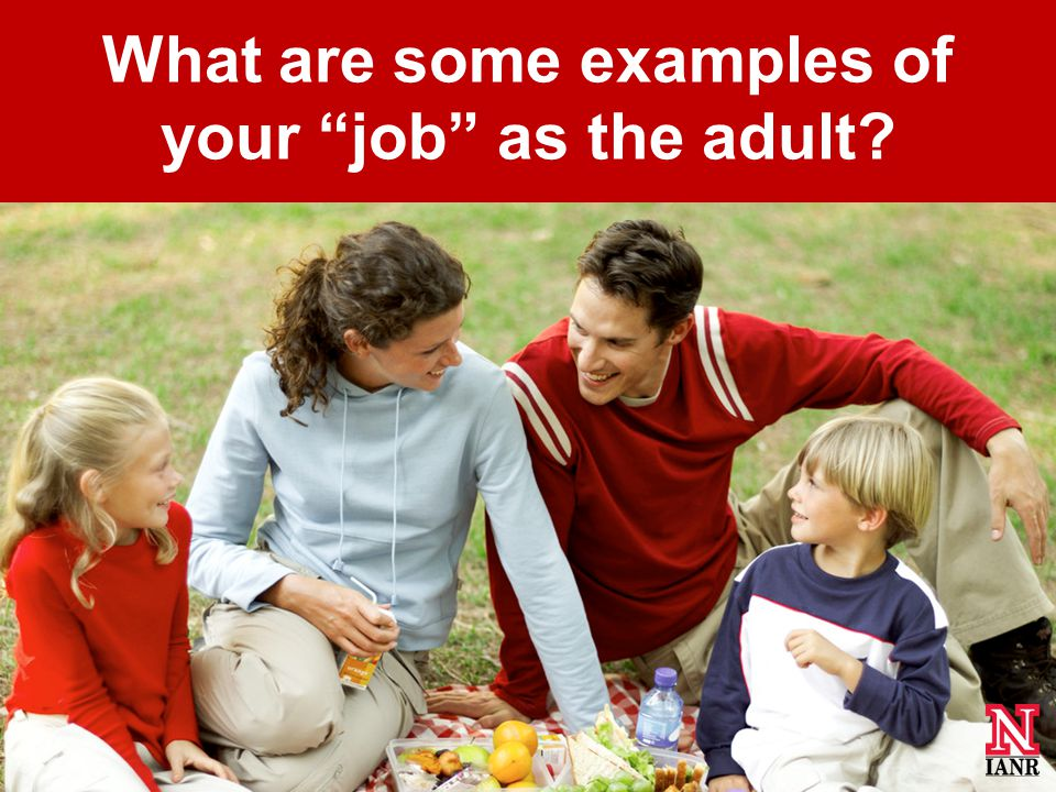 What are some examples of your job as the adult