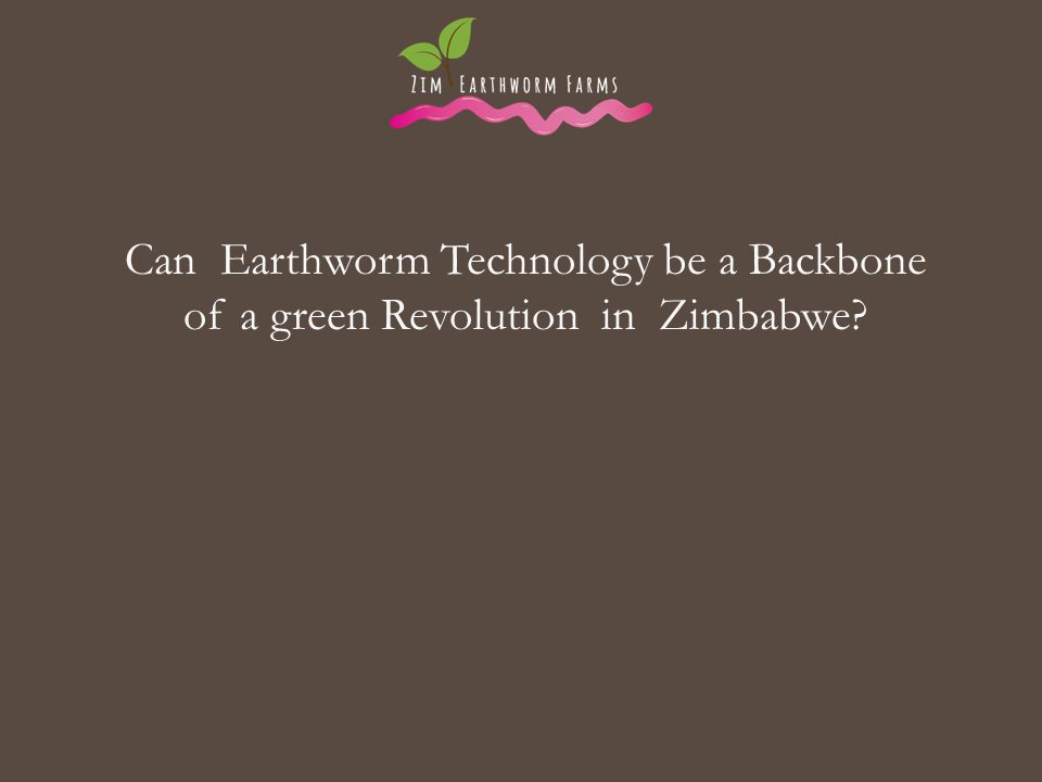 Can Earthworm Technology be a Backbone of a green Revolution in Zimbabwe?