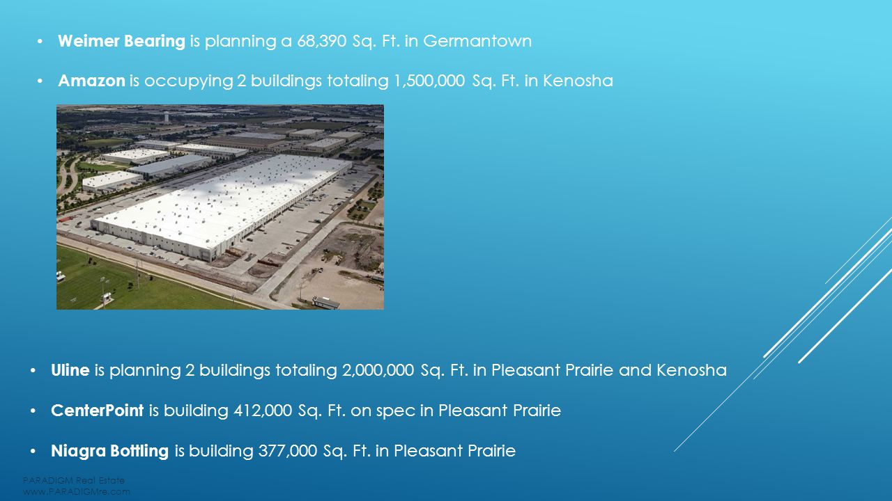 Weimer Bearing is planning a 68,390 Sq. Ft.