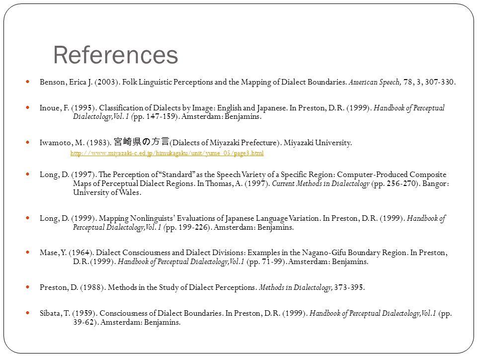 References Benson, Erica J. (2003).