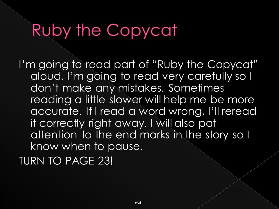  Now I want you Echo-Read page 23 with me!
