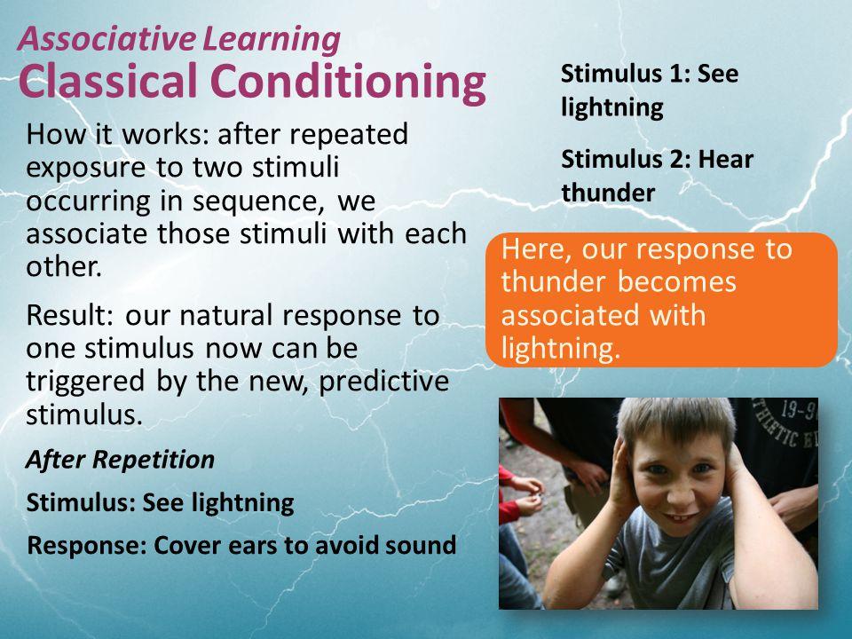  Child associates his response (behavior) with consequences.