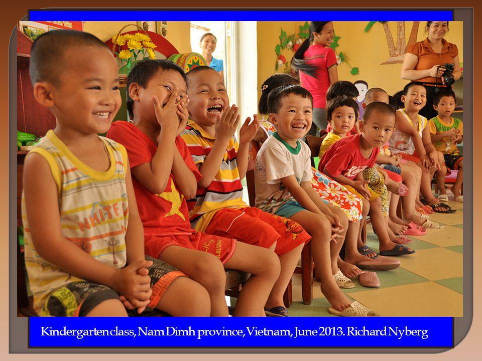 Kindergarten class, Nam Dimh province, Vietnam, June 2013. Richard Nyberg