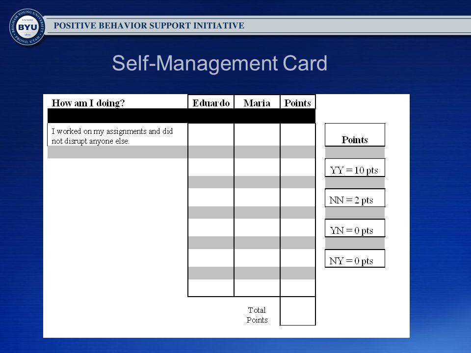 Self-Management Card