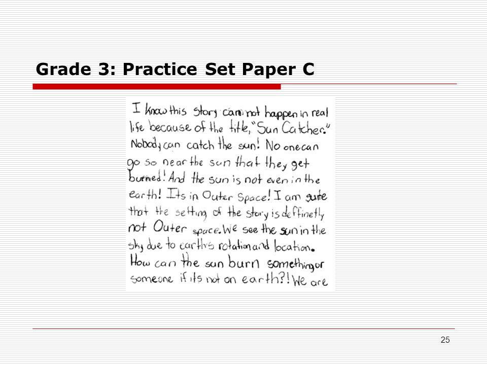 Grade 3: Practice Set Paper C 25