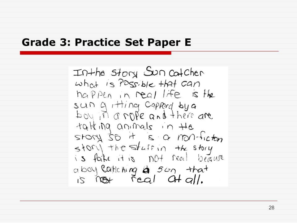 Grade 3: Practice Set Paper E 28