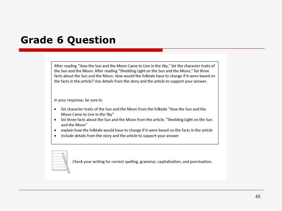 Grade 6 Question 46