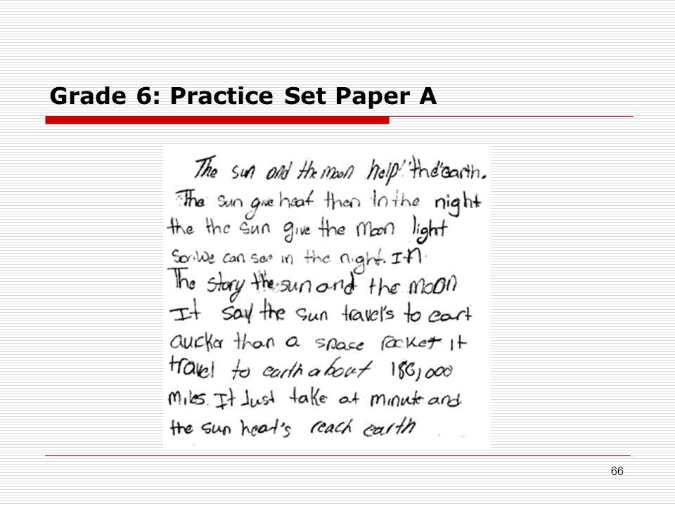 Grade 6: Practice Set Paper A 66
