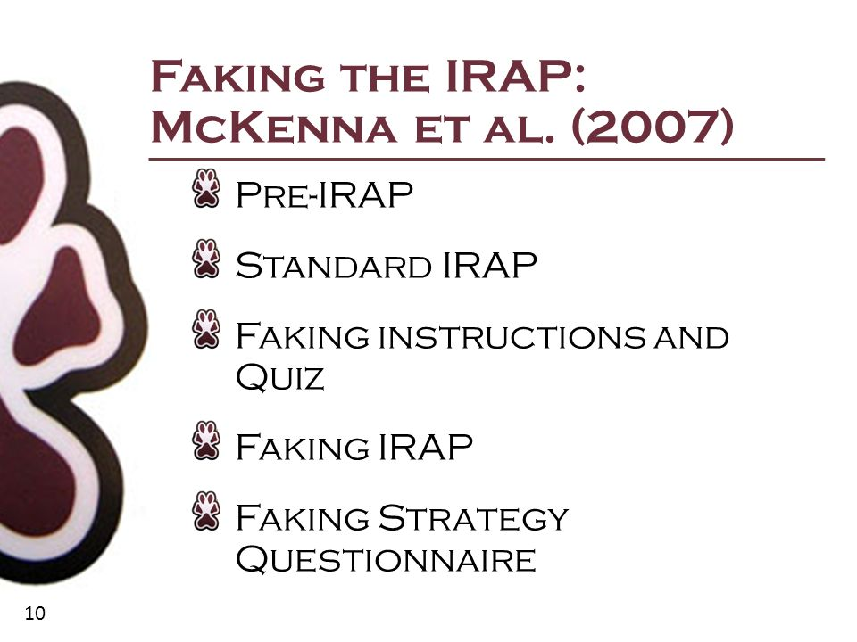 10 Faking the IRAP: McKenna et al.