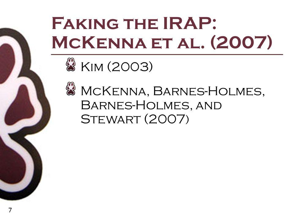 8 Consistent Blocks: McKenna et al.