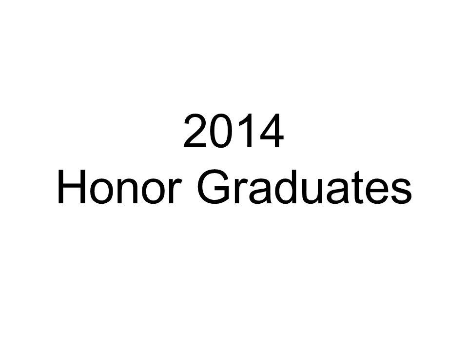 2014 Honor Graduates