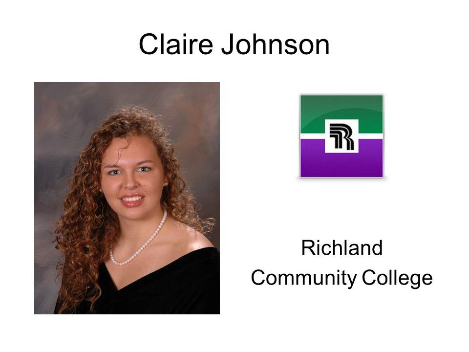 Claire Johnson Richland Community College