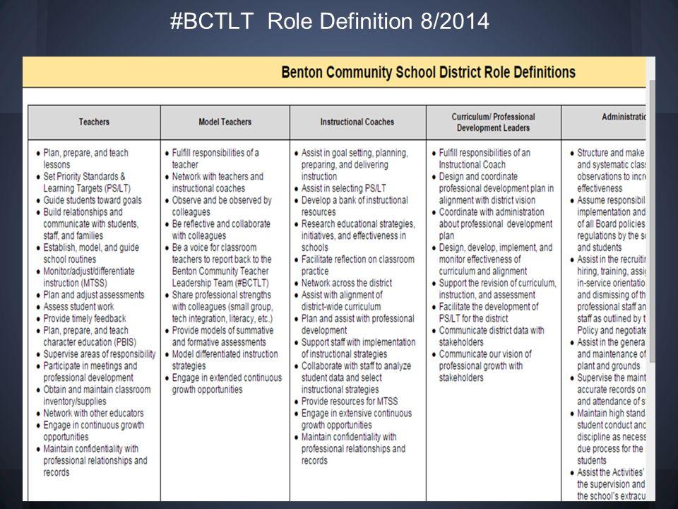 #BCTLT Role Definition 8/2014