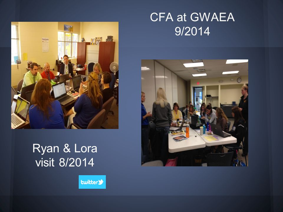 CFA at GWAEA 9/2014 Ryan & Lora visit 8/2014
