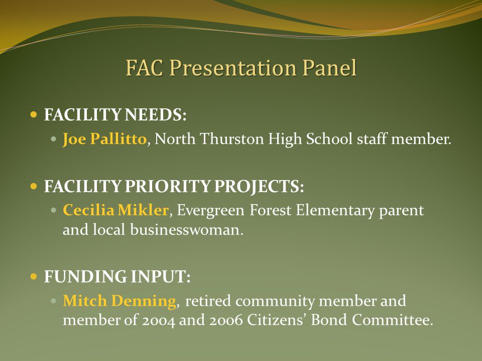 FACILITY NEEDS: Joe Pallitto, North Thurston High School staff member.