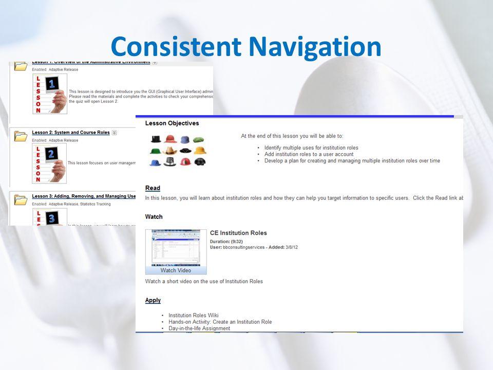 Consistent Navigation