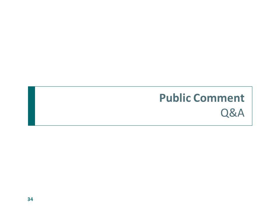 Public Comment Q&A 34