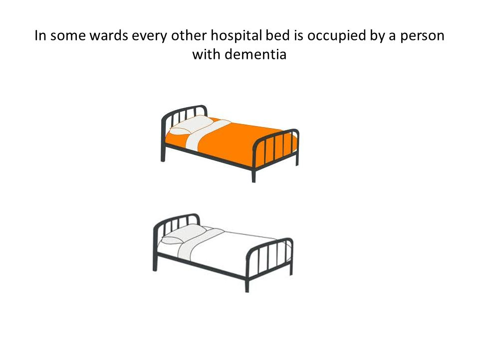 In some wards every other hospital bed is occupied by a person with dementia