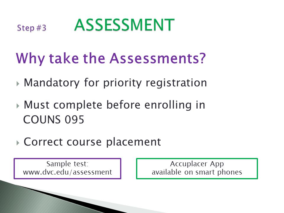 Why take the Assessments.