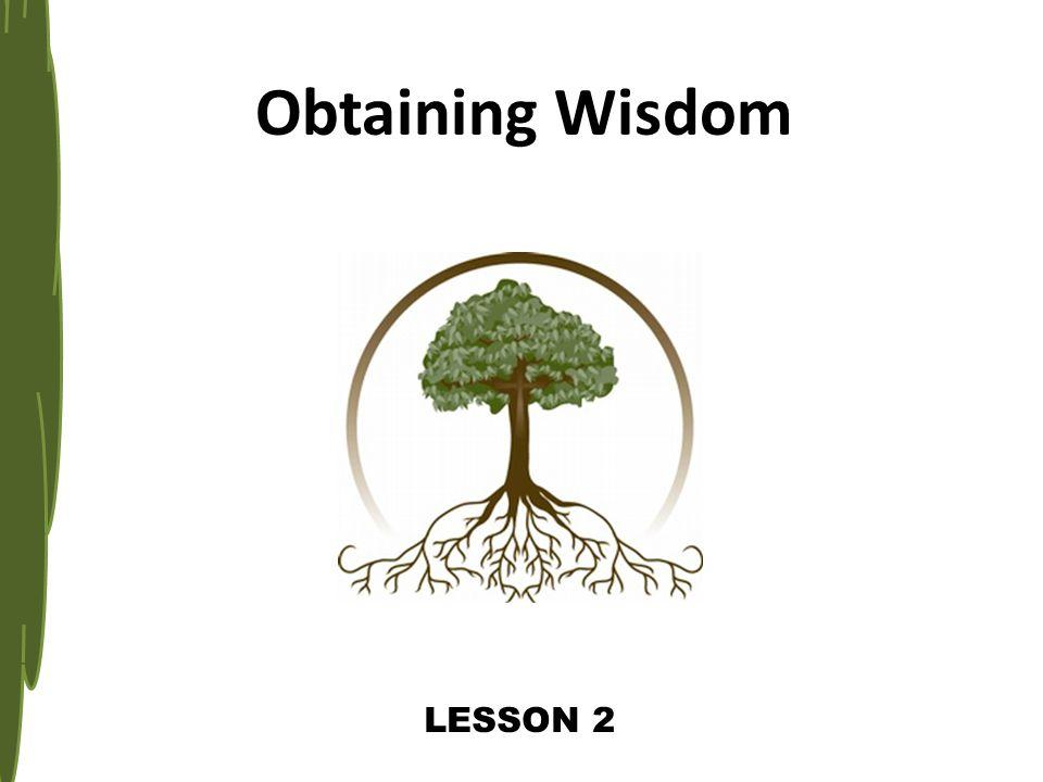 Ultimate Source of Wisdom (8.12-21, then 22-31 NIV) Gen.