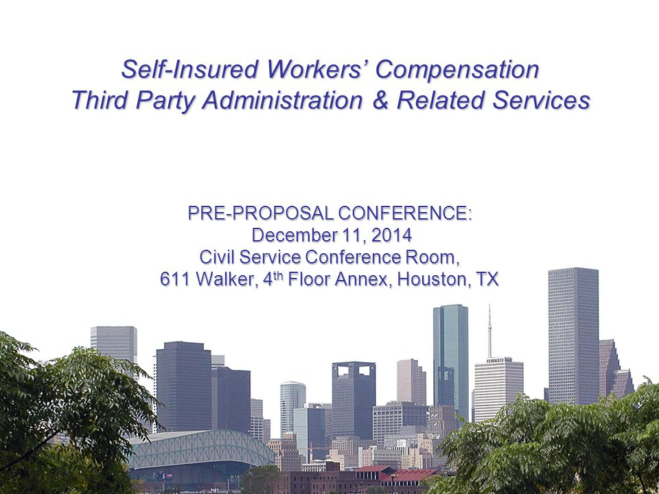 Estimated Timeline Date of issue of the RFP December 1, 2014 Questions to be answered at pre-proposal conference due December 8, 2014 Pre-Proposal Conference December 11, 2014 Proposals due from Proposers January 29, 2015 Oral presentations and site visits March 2015 Notification of intent to award (Estimated) April 2015 Council Agenda Date (Tentative) May 2015 Contract start date (Estimated) On or Before August 31, 2015 12