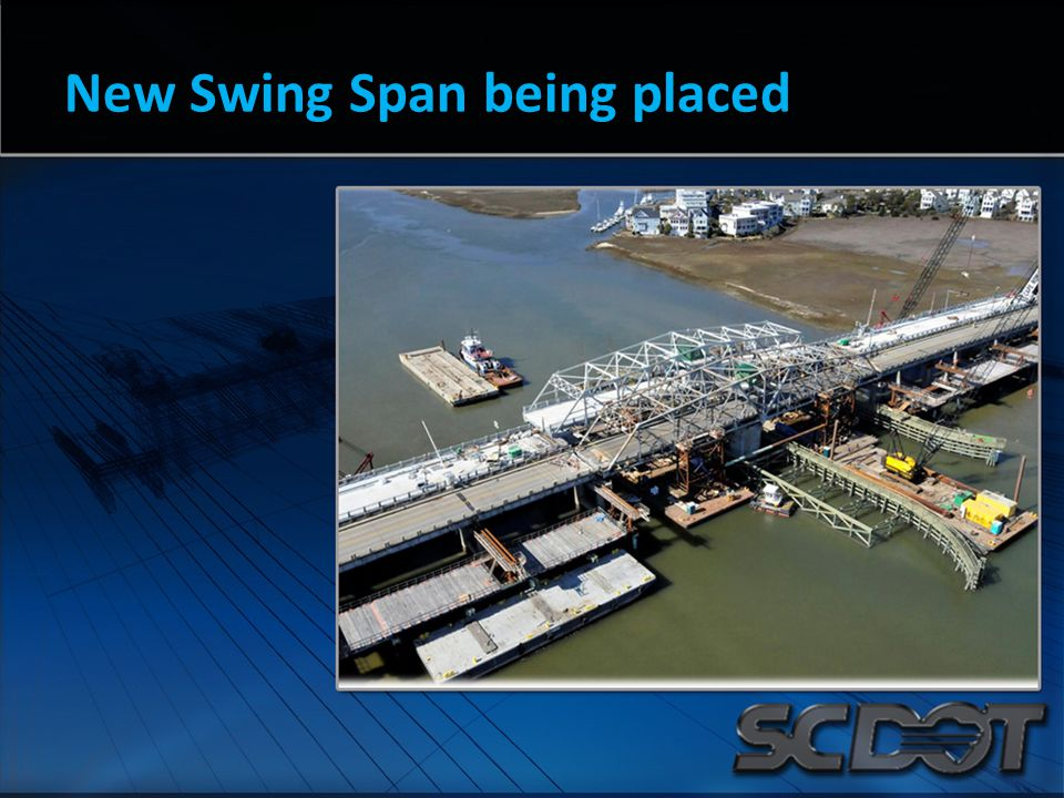 New Swing Span being placed