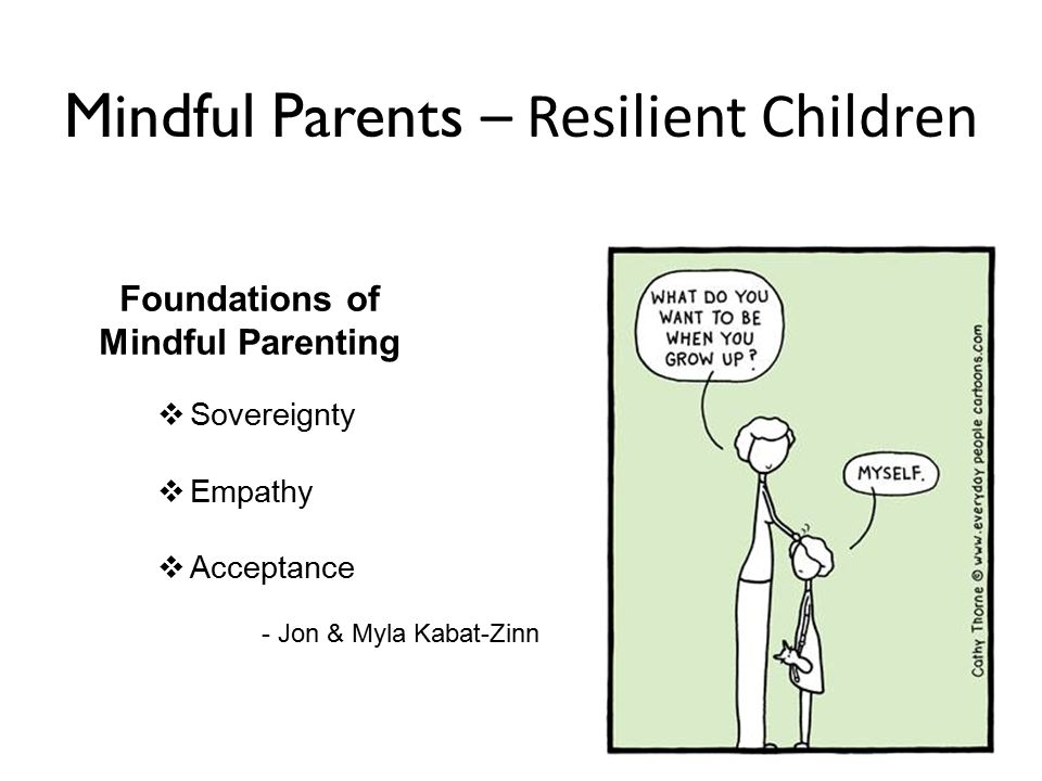 Mindful Parents – Resilient Children Foundations of Mindful Parenting  Sovereignty  Empathy  Acceptance - Jon & Myla Kabat-Zinn