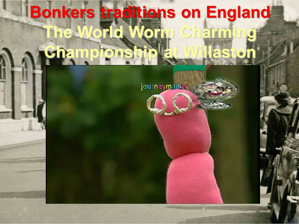 Bonkers traditions on England The World Worm Charming Championship at Willaston