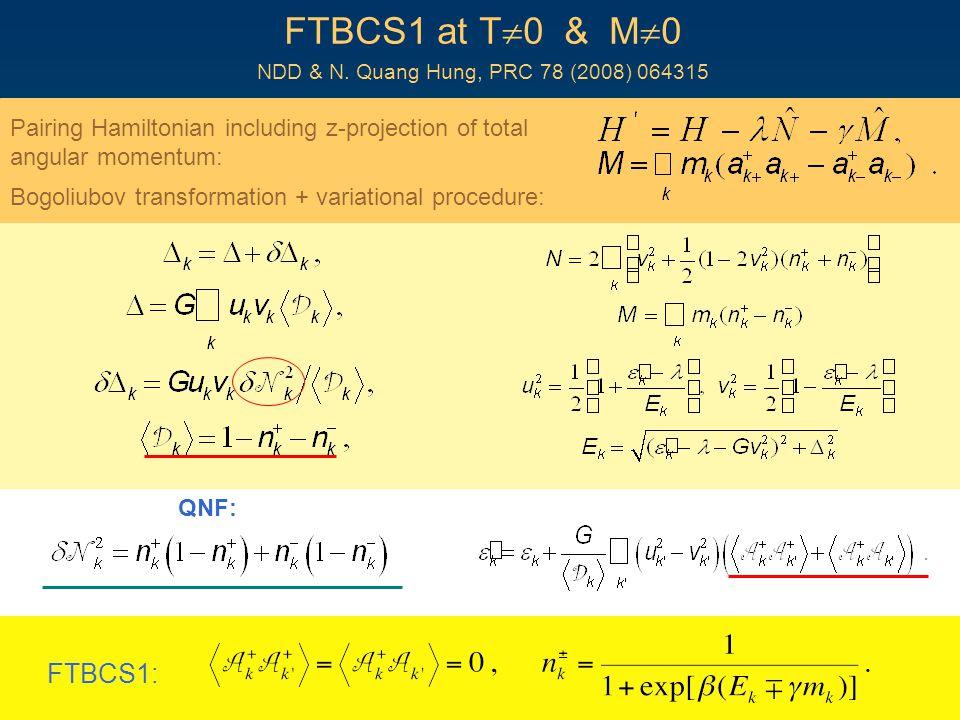 FTBCS1 at T  0 & M  0 NDD & N.