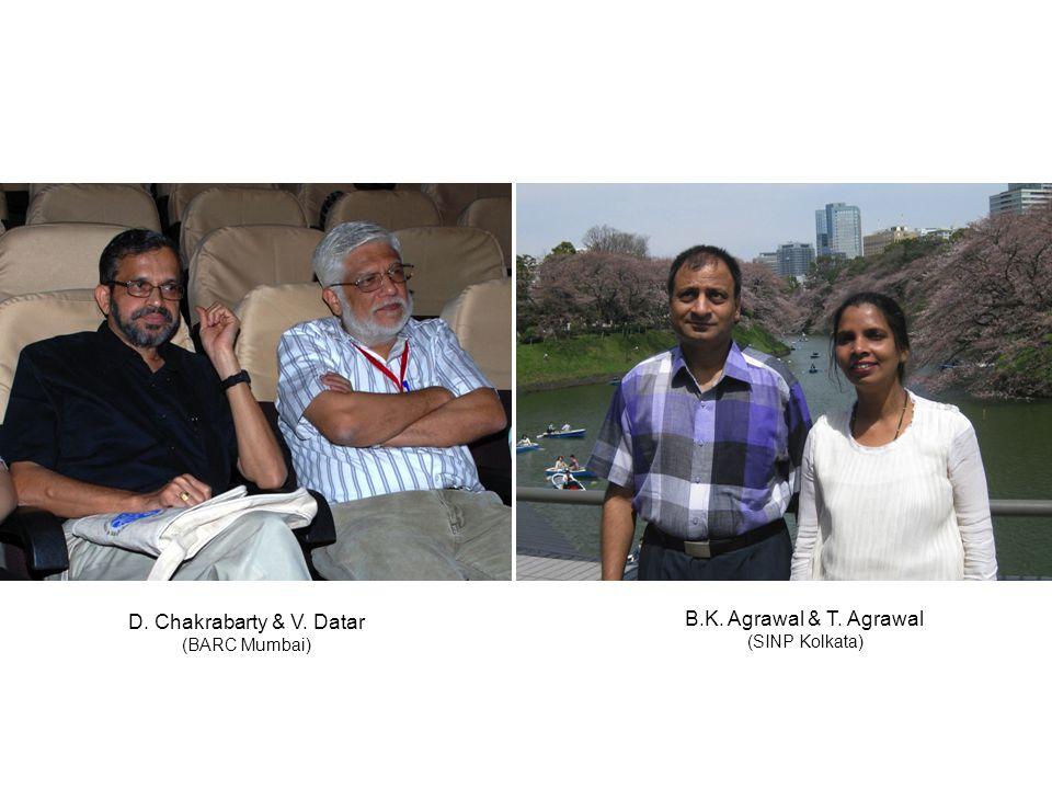 D. Chakrabarty & V. Datar (BARC Mumbai) B.K. Agrawal & T. Agrawal (SINP Kolkata)
