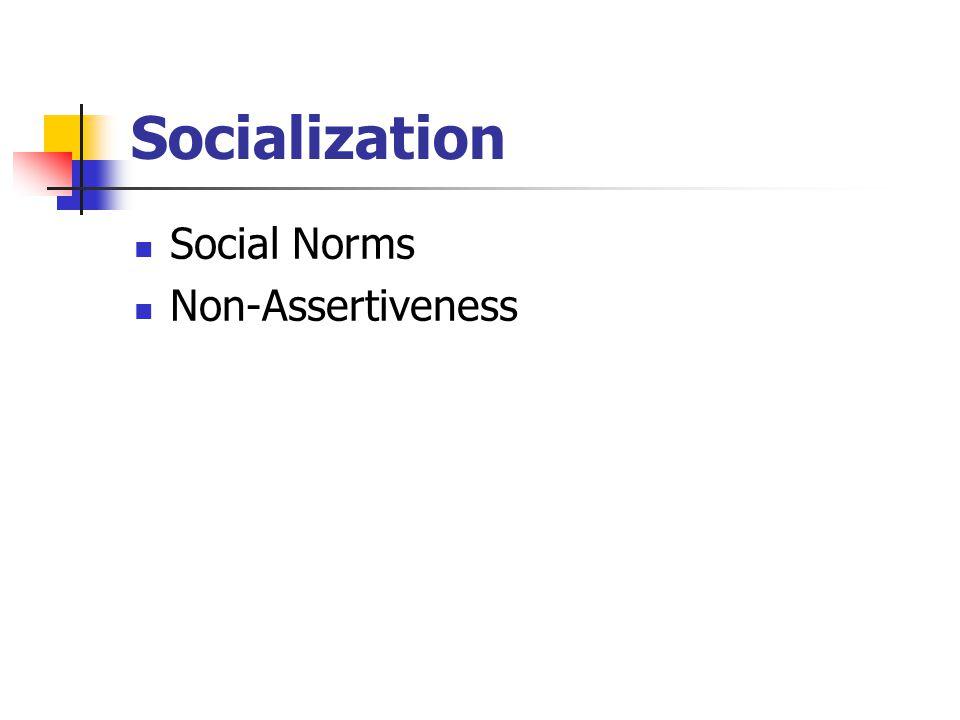 Socialization Social Norms Non-Assertiveness