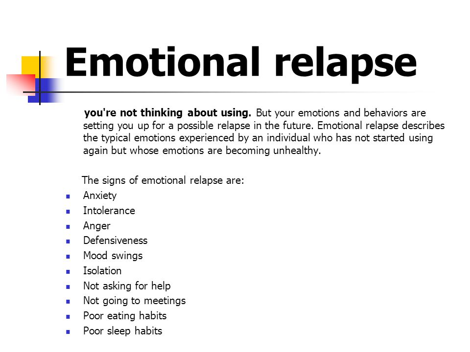 Emotional relapse you re not thinking about using.