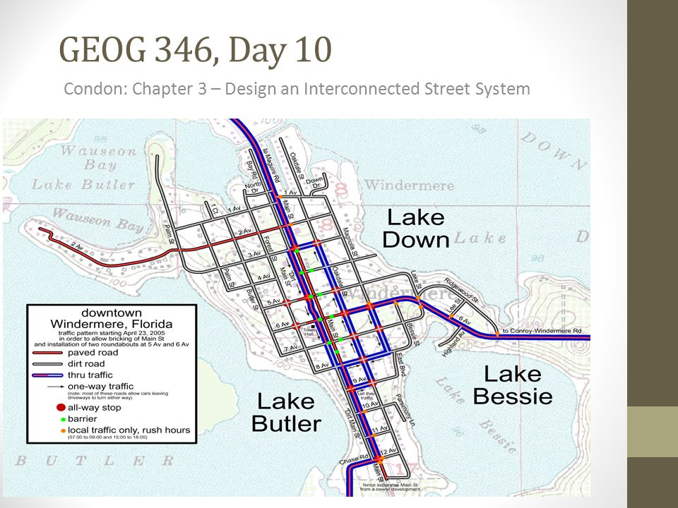 GEOG 346, Day 10 Condon: Chapter 3 – Design an Interconnected Street System