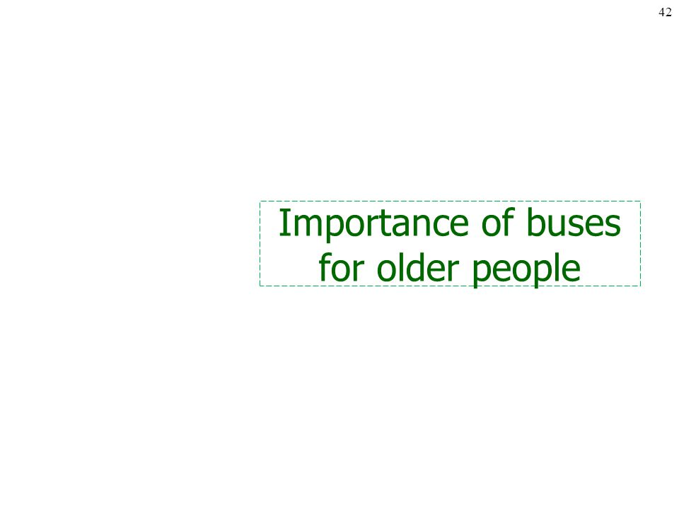 Importance of buses for older people 42