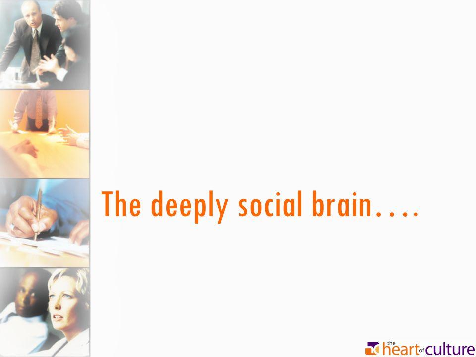 The deeply social brain….