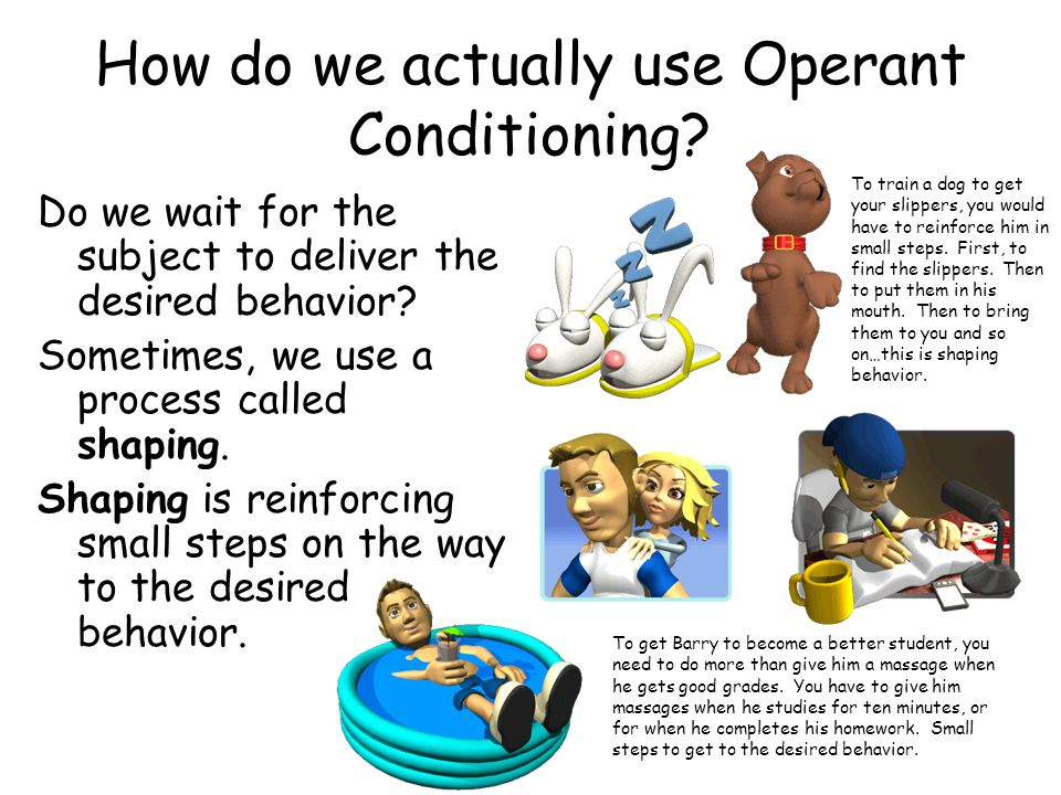 How do we actually use Operant Conditioning.
