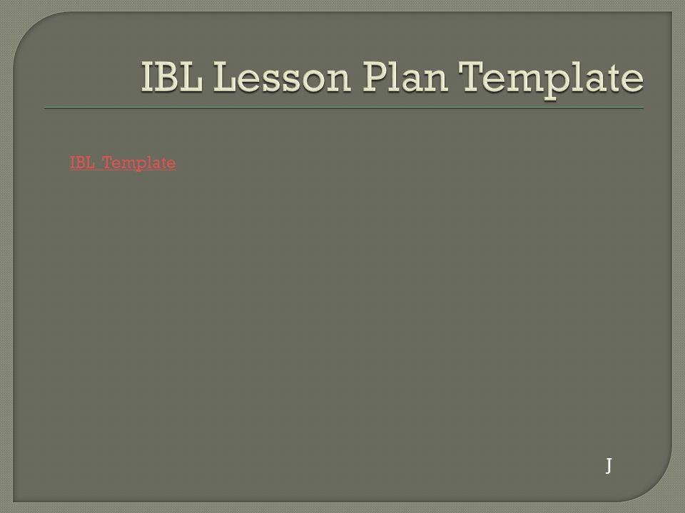 IBL Template J