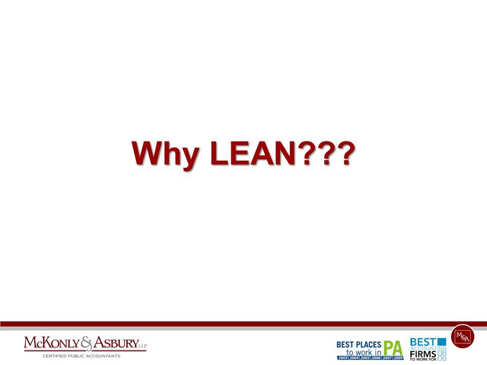 Why LEAN