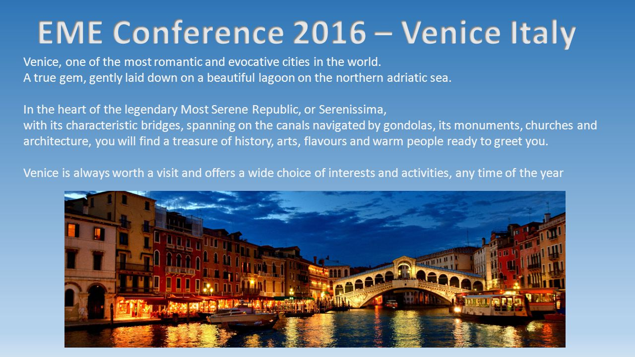 Venice, one of the most romantic and evocative cities in the world. A true gem, gently laid down on a beautiful lagoon on the northern adriatic sea. I