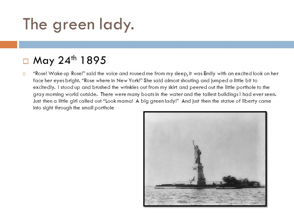 The green lady. May 24 th 1895  Rose.