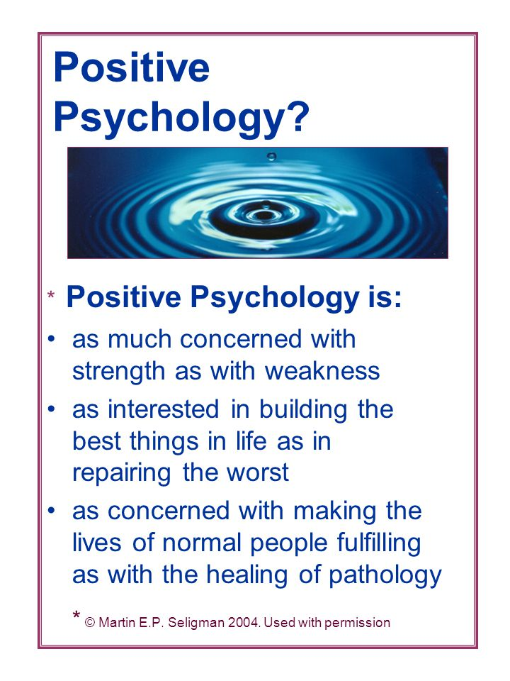 Positive Psychology.