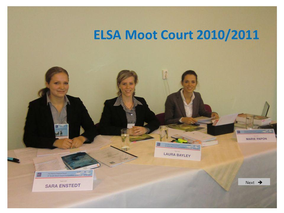 ELSA Moot Court 2010/2011 Next 