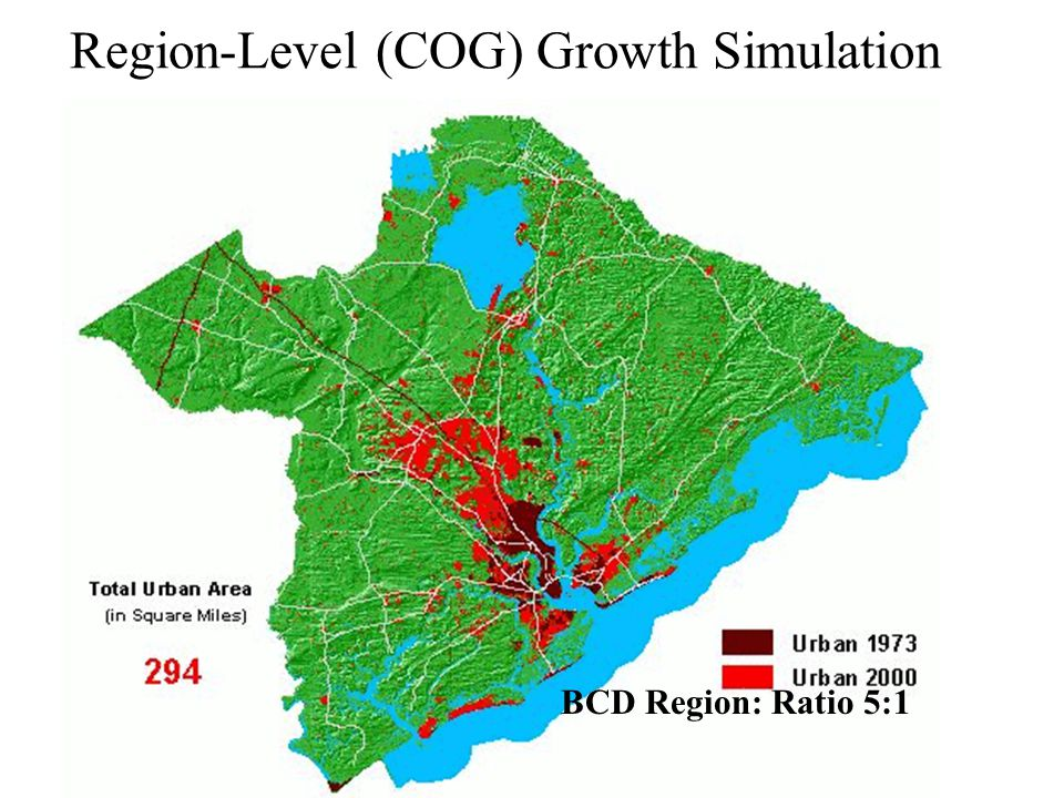 Region-Level (COG) Growth Simulation BCD Region: Ratio 5:1