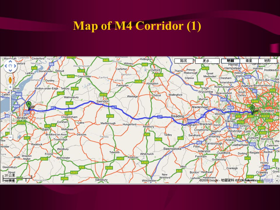 Map of M4 Corridor (1)
