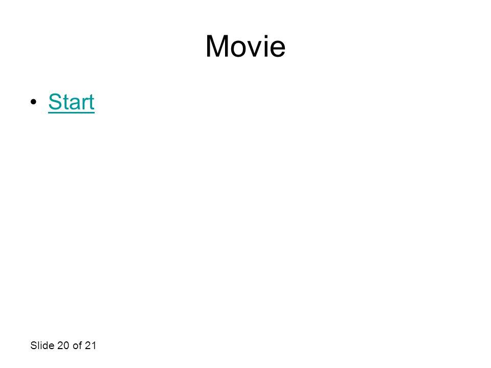 Slide 20 of 21 Movie Start
