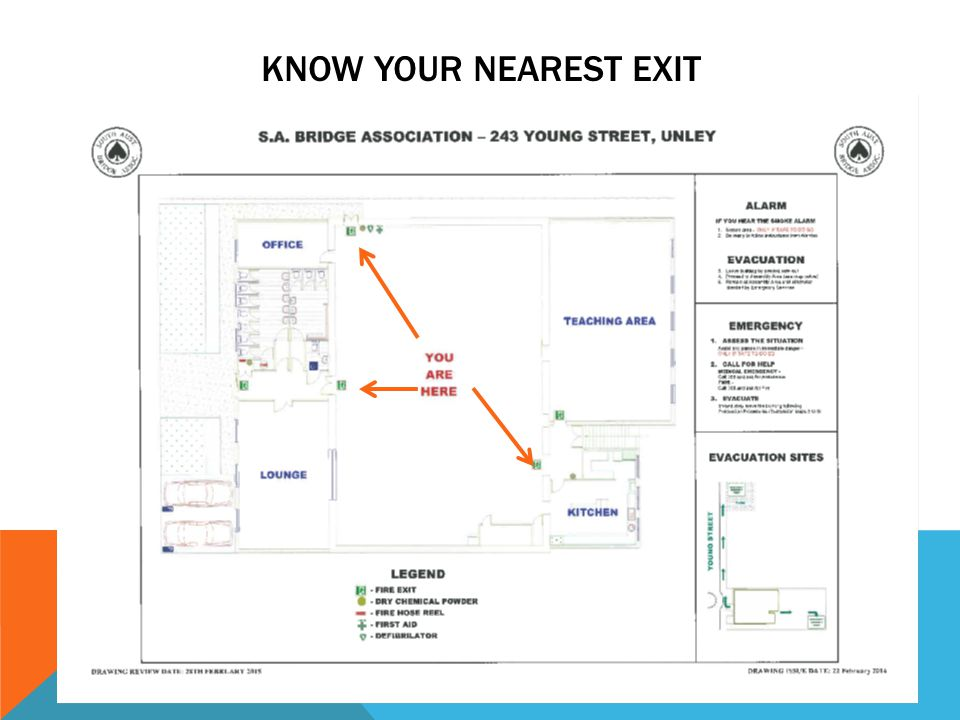 KNOW YOUR NEAREST EXIT