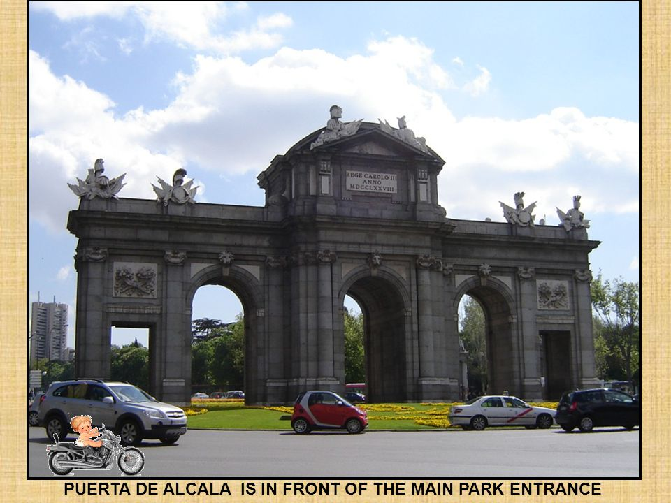 Retiro Park was originally a royal playground for the Spanish Monarchs. It was opened to the public in the nineteenth century. Its spanish name is Par