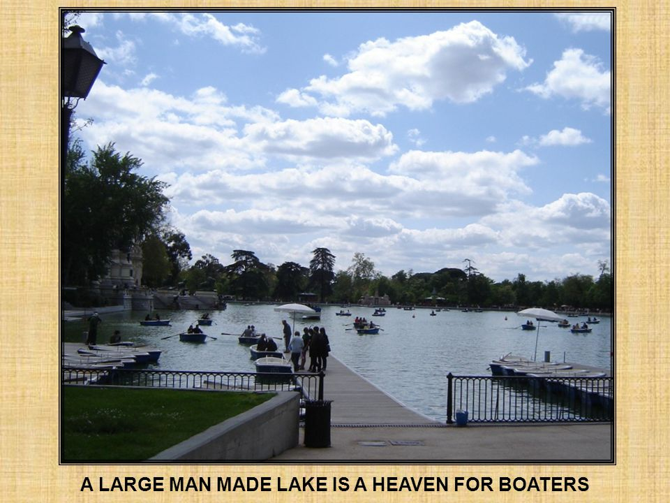 A LARGE MAN MADE LAKE IS A HEAVEN FOR BOATERS