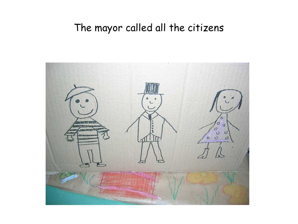 The mayor called all the citizens