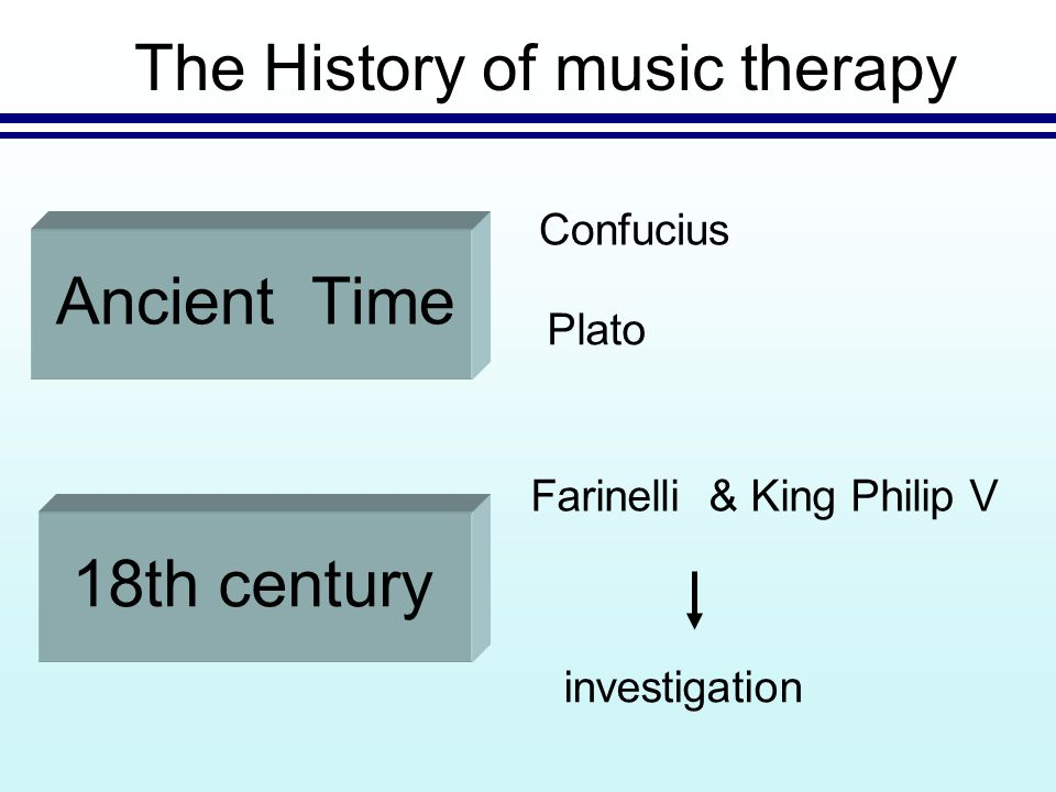(psychological and physiological discoveries ) American's veteran's hospitals The History of music therapy investigation 19th centuryWorld War II